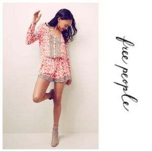 Free People Resort Mixed Print Romper